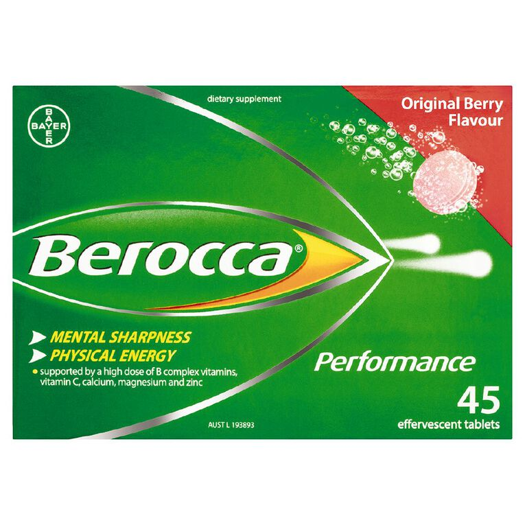 Berocca Performance Effervescent Tablets Original Flavour 45s, , hi-res