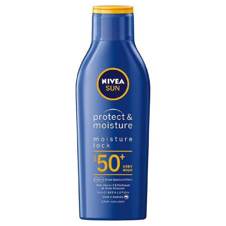 Nivea Sunscreen Moisturising Lotion SPF50+ 200ml, , hi-res