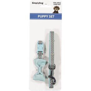 Simply Dog Assorted Fashion Puppy Collar & Lead Set
