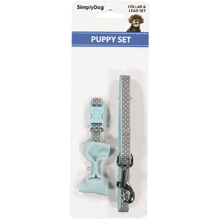Simply Dog Assorted Fashion Puppy Collar & Lead Set, , hi-res