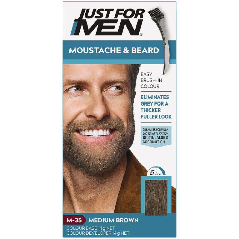 Just For Men Moustache and Beard Colour Medium Brown, , hi-res
