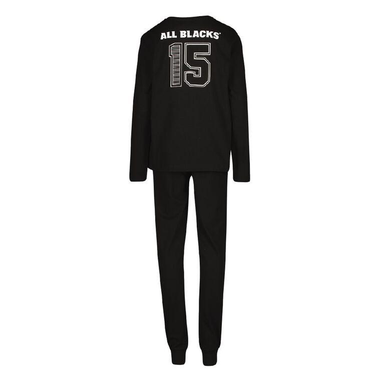 All Blacks Boys' Knit Pyjamas, Black, hi-res