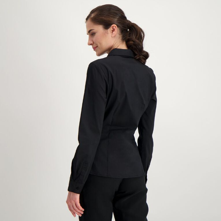 H&H Women's Stretch Work Shirt, Black, hi-res