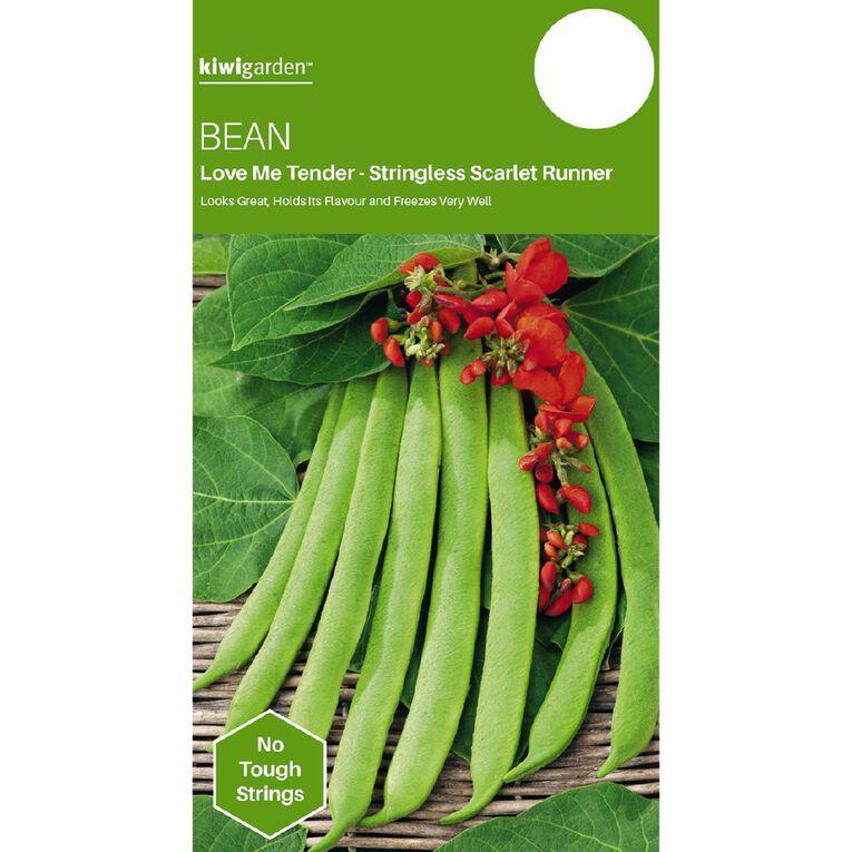 Kiwi Garden Bean Love Me Tender Stringless Scarlet Runner, , hi-res
