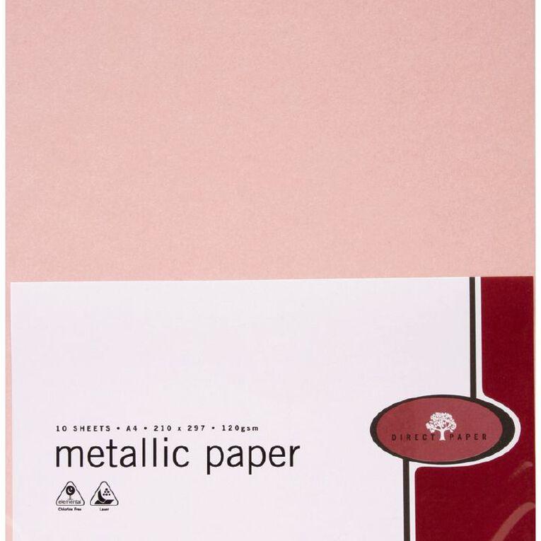 Direct Paper Metallic Paper 120gsm 10 Pack Rose Quartz A4, , hi-res