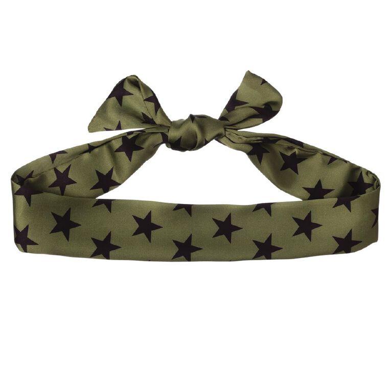 Star Black Olive Scarf, , hi-res