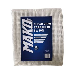 Mako Clear View PE Tarpaulin 135gsm 8x10ft Finished Size