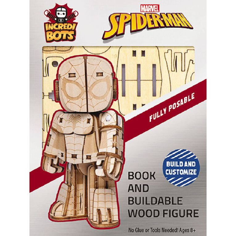 Marvel Incredibuilds Incredibots Marvel Spider-Man 3D Wooden Model, , hi-res