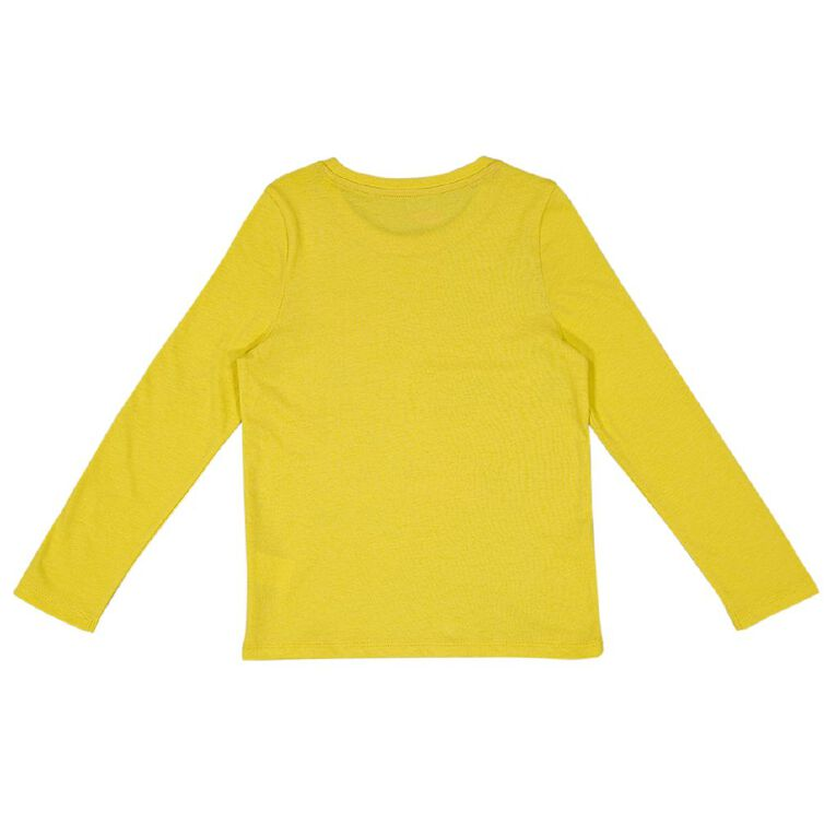 Young Original Long Sleeve Print Tee, Yellow Mid, hi-res