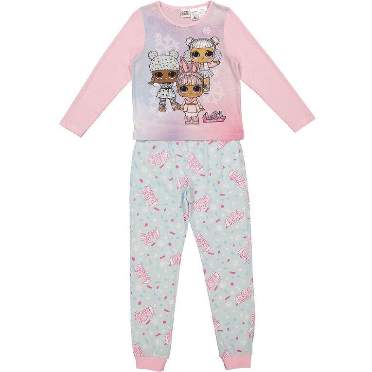 LOL Girls' Long Sleeves Pyjamas, Pink, hi-res