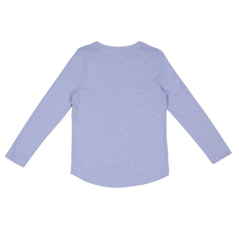 Young Original Brooke Long Sleeve Print Tee, Purple Mid, hi-res