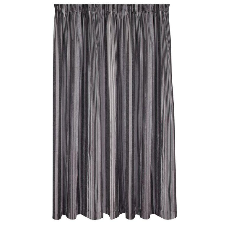 Living & Co Thorndon Curtains Grey 230-330cm Wide/160cm Drop, Grey, hi-res