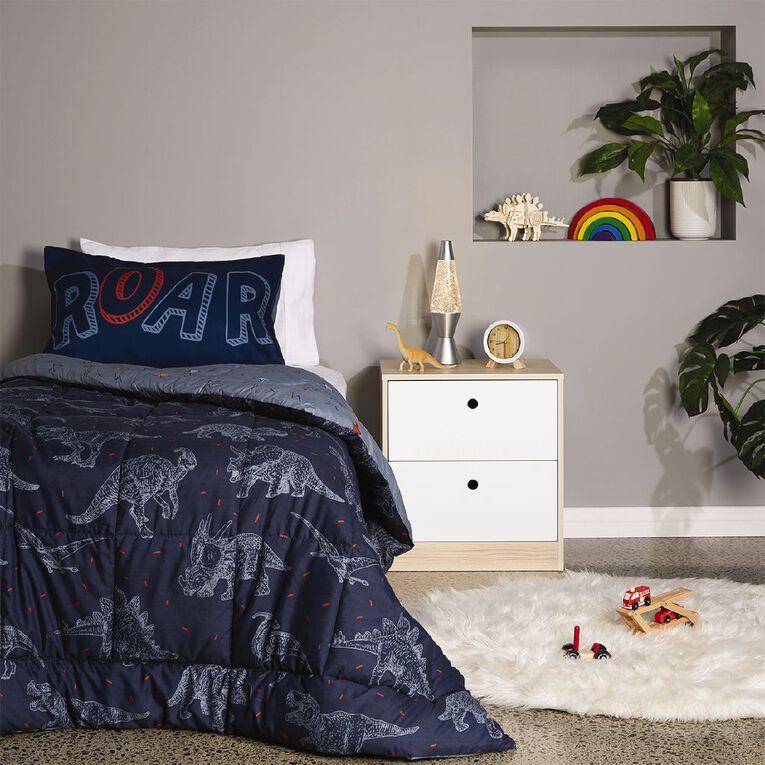 Living & Co Kids Comforter Set Dino Blue King Single, Blue, hi-res