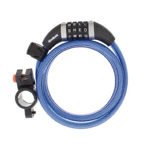 Wordlock Bike Cable Lock 5ft/10mm/150cm Assorted