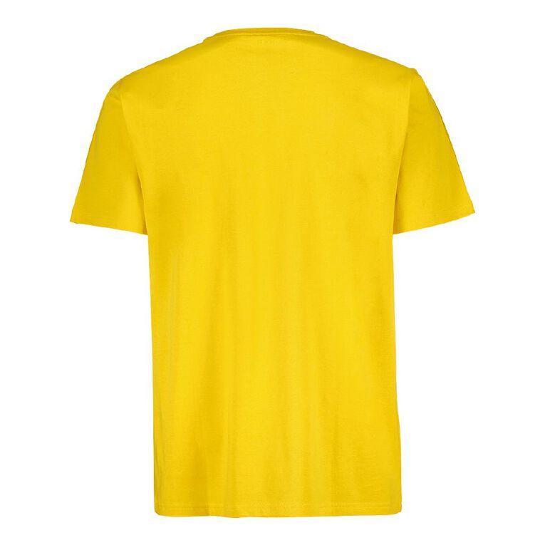 H&H Crew Neck Slogan Printed Tee, Yellow Dark, hi-res