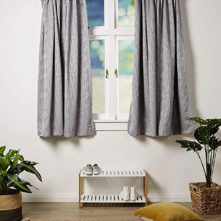 Living & Co Smudge Curtains Silver 150-230cm Wide/205cm Drop, Silver, hi-res