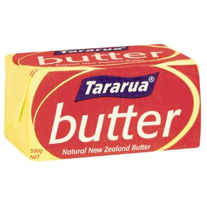 Tararua Salted Butter Limit 6 per Customer 500g