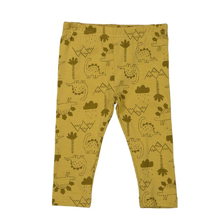 Young Original Baby All Over Print Leggings, Yellow Mid, hi-res