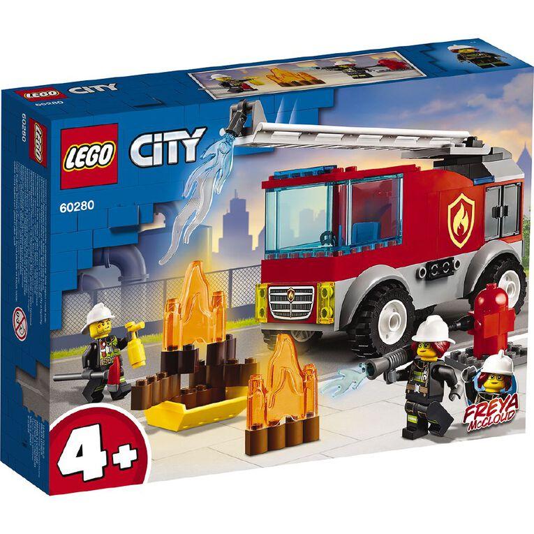LEGO City Fire Ladder Truck 60280, , hi-res