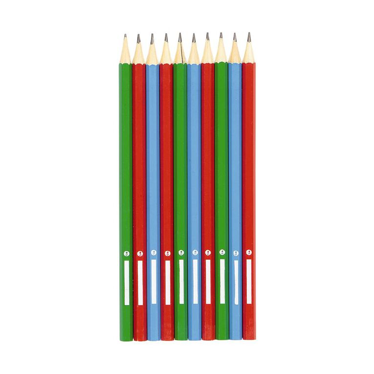 WS HB Pencils with name plate Assorted 10 Pack, , hi-res