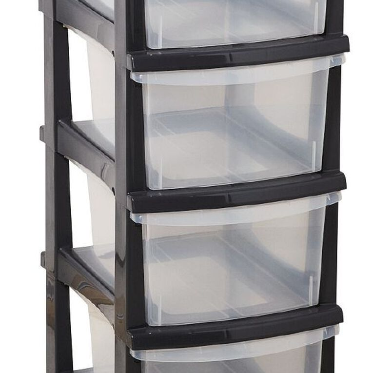 Taurus Storage Drawers Grey 4 Tier, , hi-res