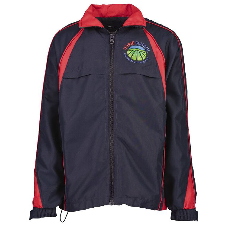 Schooltex Dorie School Track Top, Navy/Red, hi-res