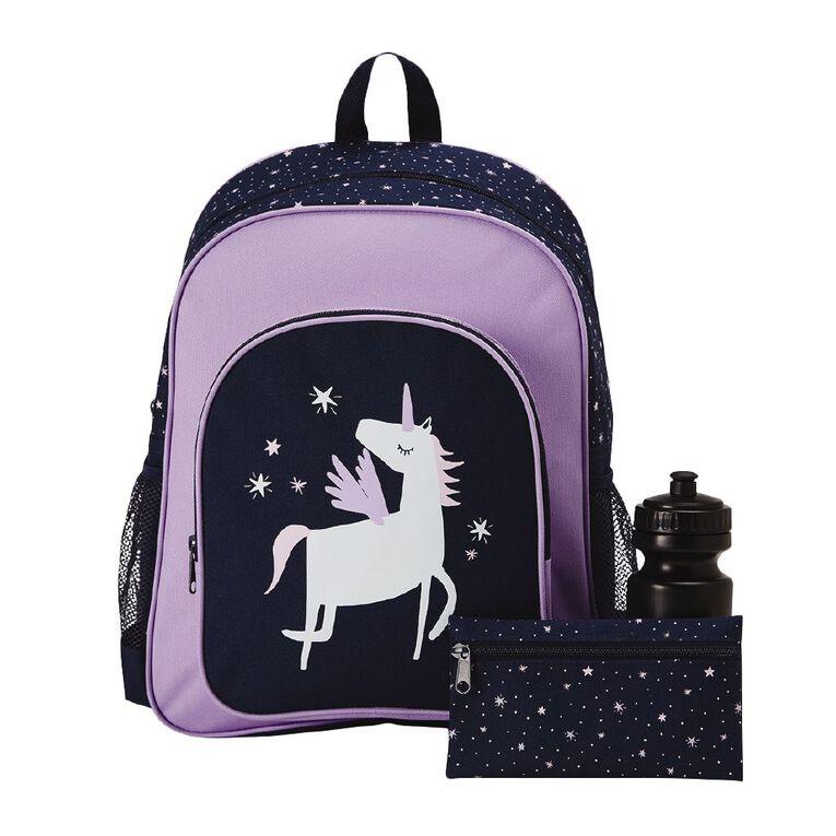 H&H Unicorn Print Bundle Backpack, Purple, hi-res image number null