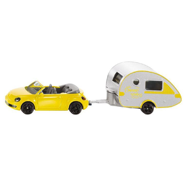 Siku VW Beetle Convertible with Tear-Drop Caravan, , hi-res