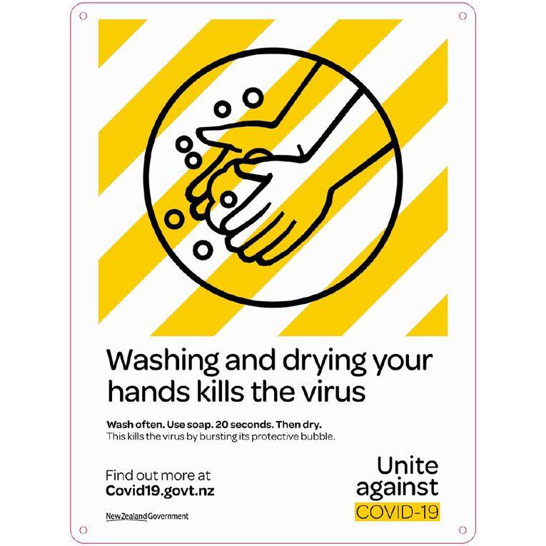 WS COVID Sign WASH HANDS, , hi-res