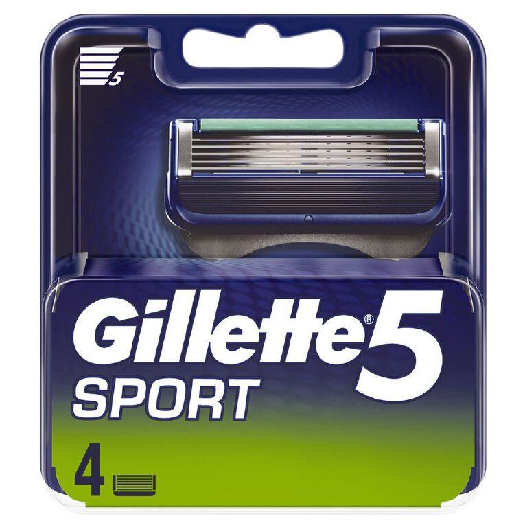 Gillette 5 Sport Replacement Cartridges 4 Pack, , hi-res