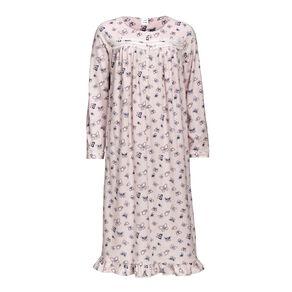 H&H Women's Long Sleeves Fleece Nightie