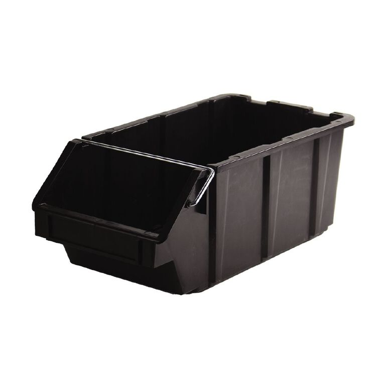 Stackable Garage Bin Black 24L, , hi-res