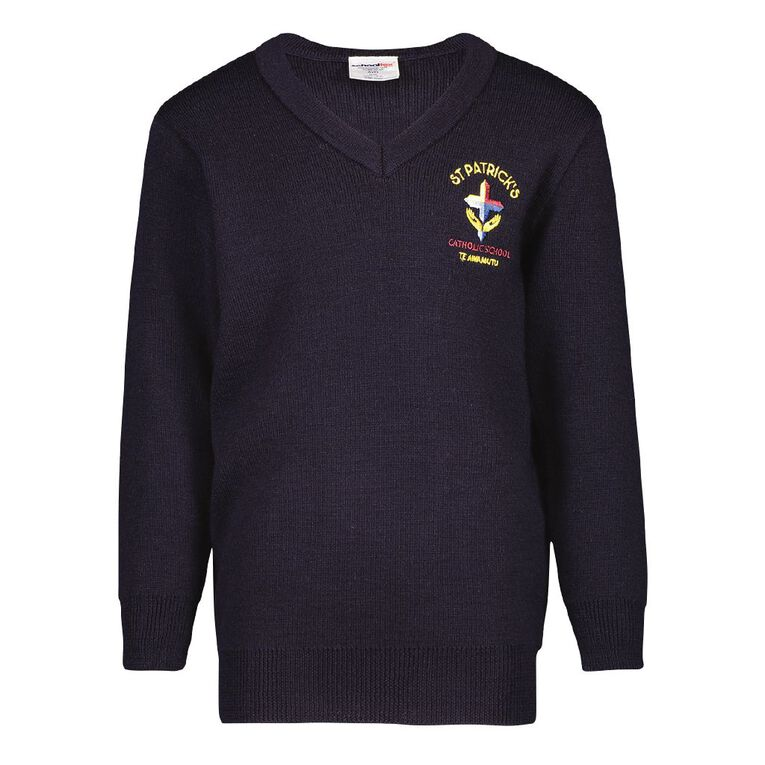 Schooltex St Patricks Te Awamutu New Jersey with Embroidery, Midnight/Navy, hi-res