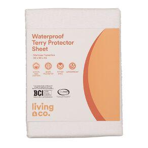 Living & Co Waterproof Protector Sheet White Queen