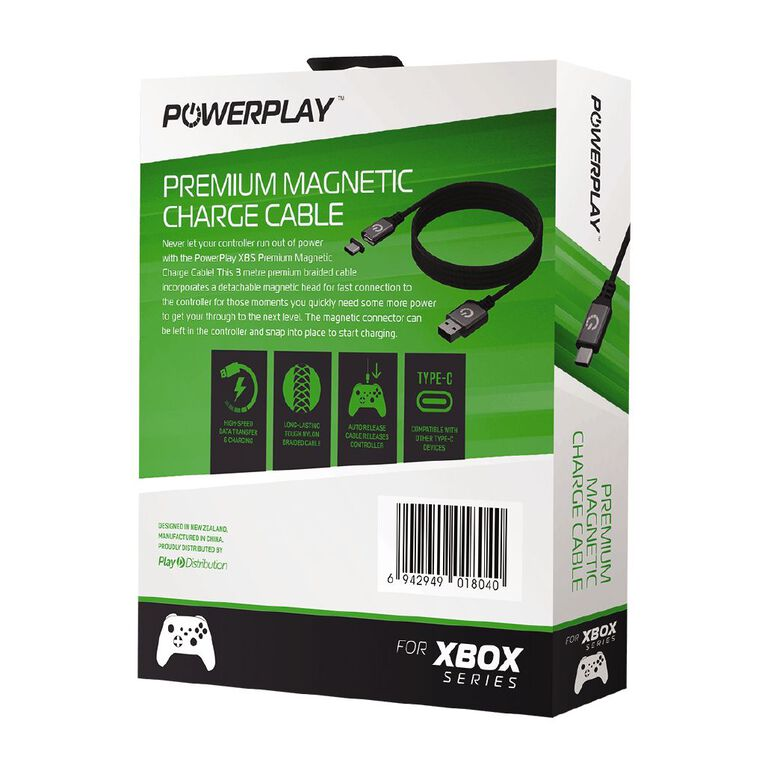 PowerPlay XBSX Premium Magnetic Charge Cable Black, , hi-res