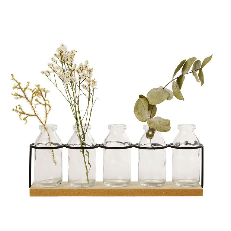 Living & Co Propagation Tube Vase Set Natural, , hi-res