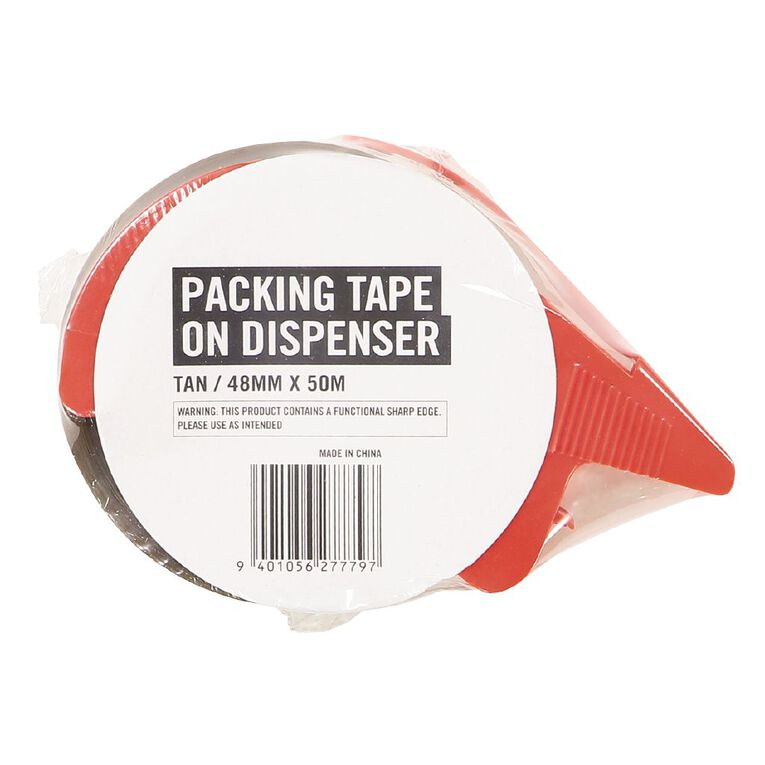 WS Packaging Tape on Dispenser Tan 48mm x 50m, , hi-res