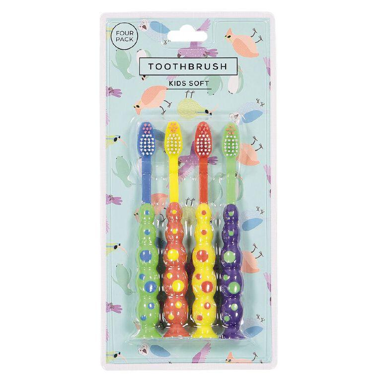 Kids' Tooth Brush 4 Pack, , hi-res
