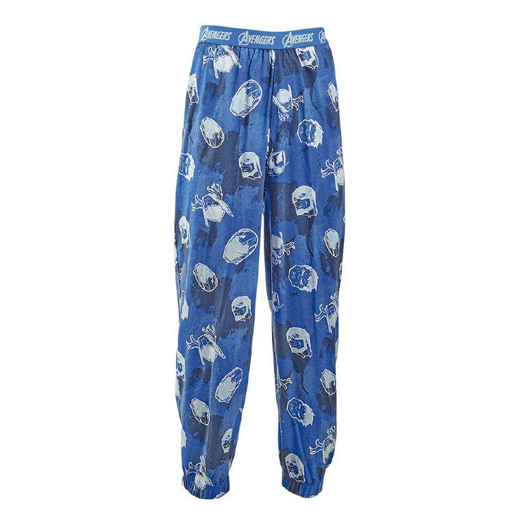 Avengers Men's Knit Pyjama Pants, Blue Mid, hi-res