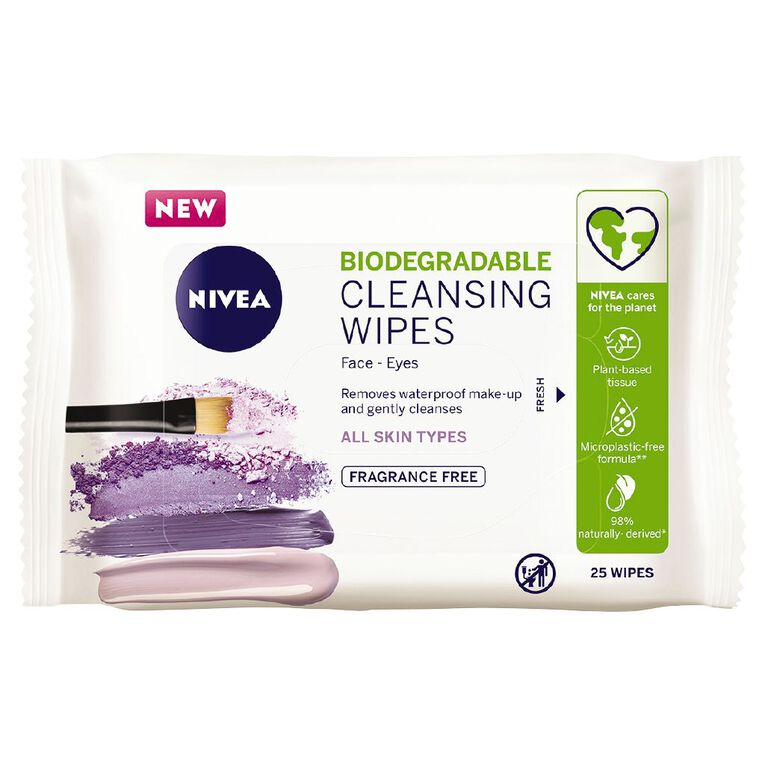 Nivea Daily Essentials Facial Cleansing Wipes Sensitive 25 Pack, , hi-res