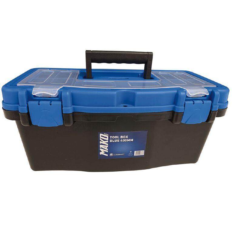Mako Plastic Tool Box Blue 40cm, , hi-res image number null