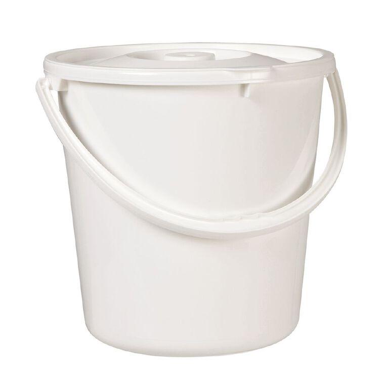 Taurus Nappy Bucket White 20L, , hi-res