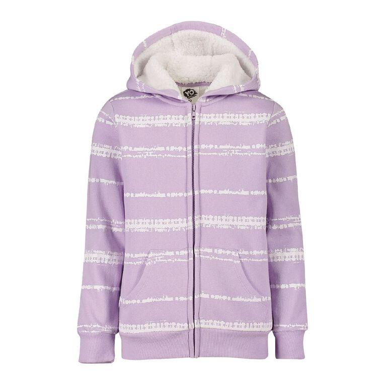 Young Original Zip-Thru Sherpa Sweat, Purple Light, hi-res