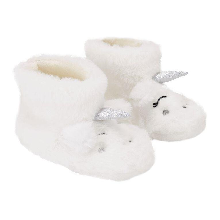 Young Original Kids' Unicorn Slipper Boots, White, hi-res