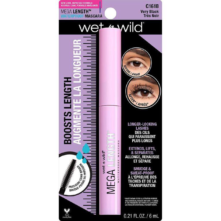 Wet n Wild Mega Length Waterproof Mascara Very Black, , hi-res