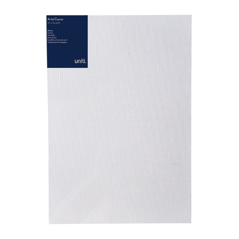 Uniti Blank Canvas 280gsm (10in x 16in) 25cm x 40cm, , hi-res