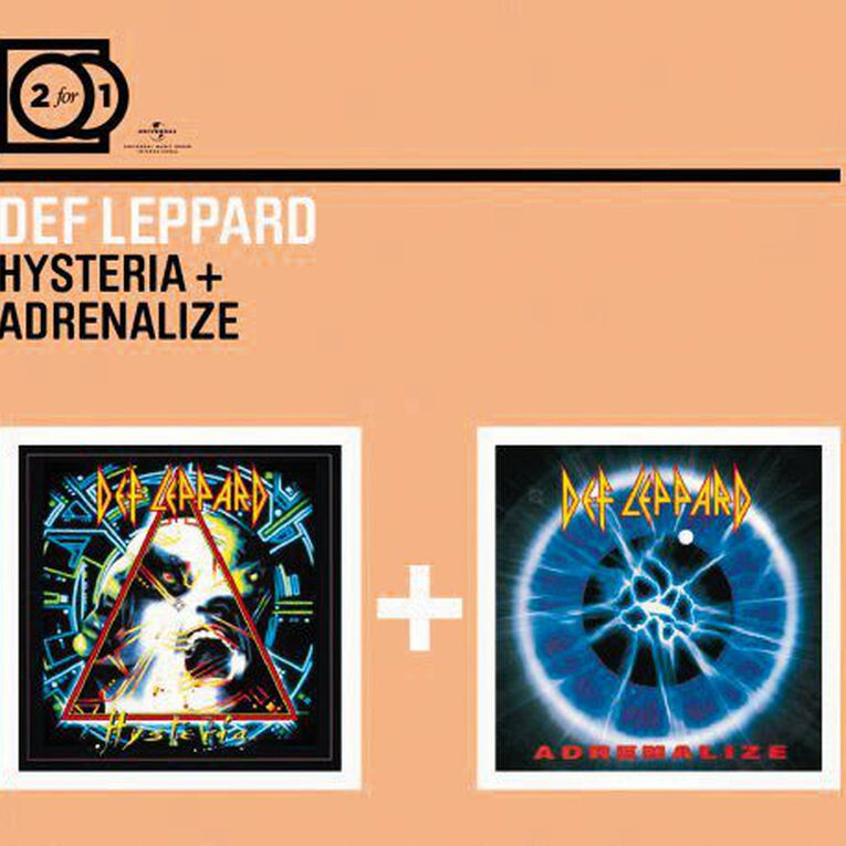 2 for 1 Hysteria/Adrenalize CD by Def Leppard 2Disc, , hi-res image number null