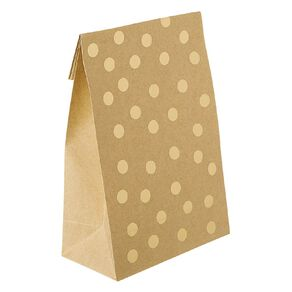 Party Inc Kraft Loot Bags with Seals Gold Spots 21.5cm x 12cm 4 Pack