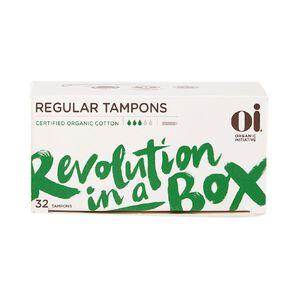 Oi Organic Cotton Tampon Regular 32 pack