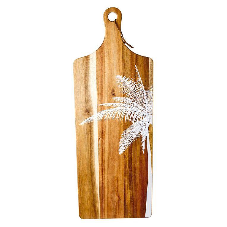 Living & Co Maya Acacia Serve Board with Print 70cm x 25cm, , hi-res